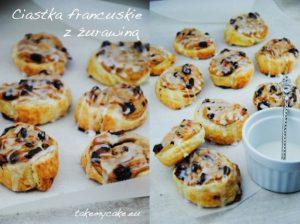 Ciastka francuskie z żurawiną