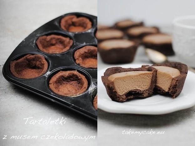 Tartaletki z musem czekoladowym