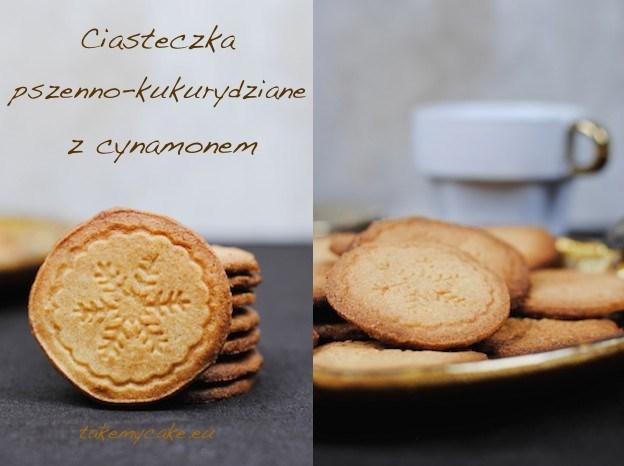 Ciasteczka pszenno-kukurydziane z cynamonem