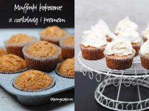 Muffinki kokosowe z czekoladą i kremem