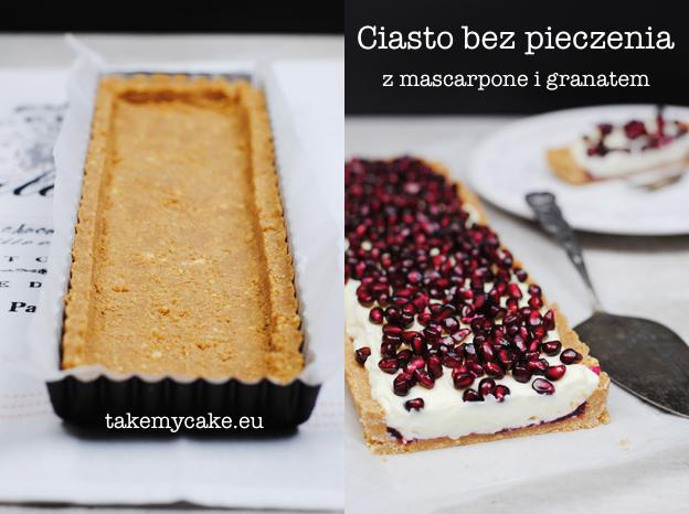 Ciasto bez pieczenia z mascarpone i granatem