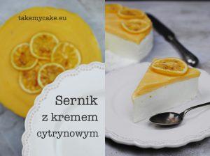Sernik z kremem cytrynowym