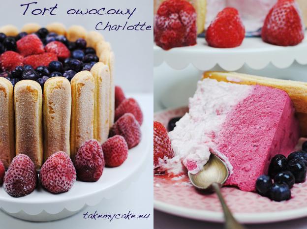 Tort owocowy Charlotte