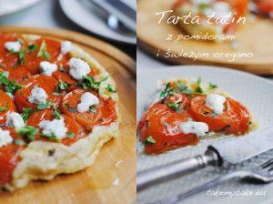 Tarta tatin z pomidorami i świeżym oregano