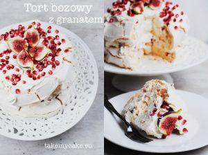 Tort bezowy z granatem