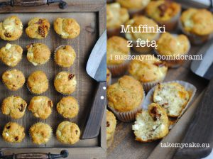 Muffinki z fetą i suszonymi pomidorami