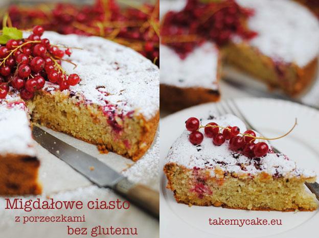 Migdałowe ciasto z porzeczkami bez glutenu