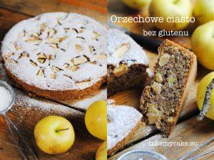 Orzechowe ciasto bez glutenu
