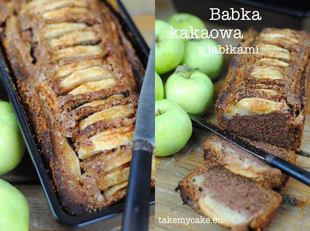 Babka kakaowa z jabłkami