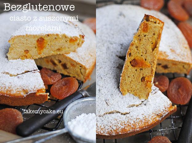 Bezglutenowe ciasto z suszonymi morelami