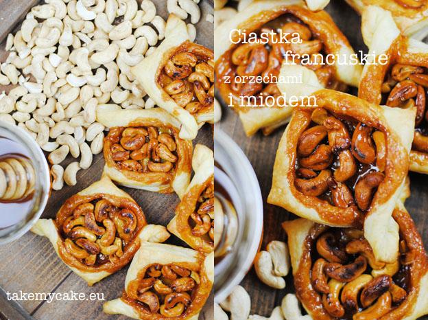 Ciastka francuskie z orzechami i miodem