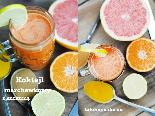 Koktajl marchewkowy z kurkumą