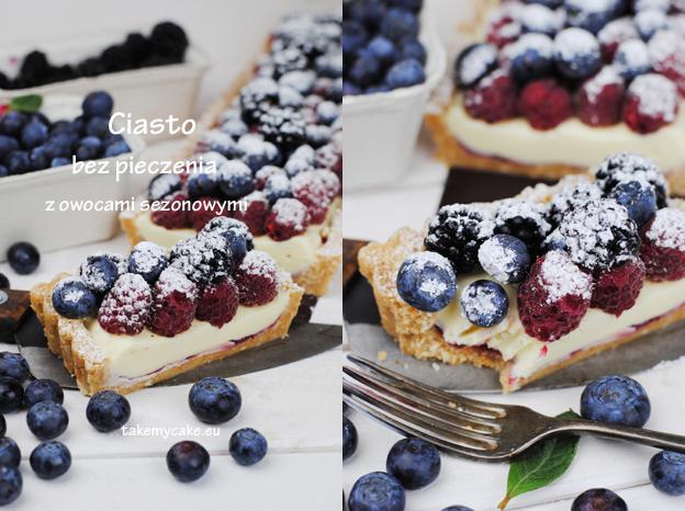 Ciasto bez pieczenia z owocami sezonowymi