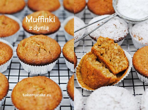 Muffinki kokosowe z dynią