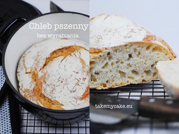 Pszenny chleb bez wyrabiania