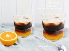 Kawa z sokiem pomarańczowym