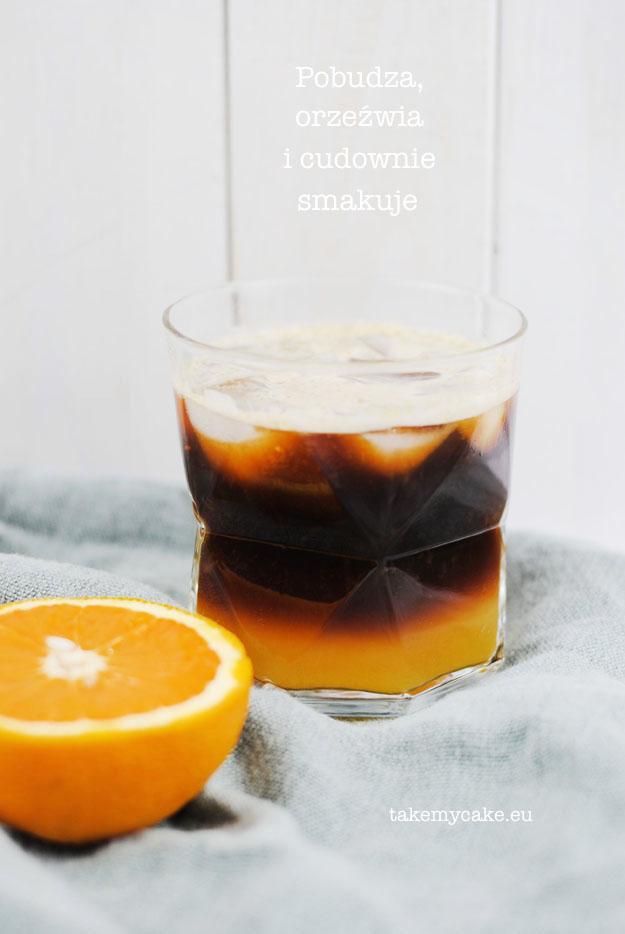 kawa z sokiem pomaranczowym