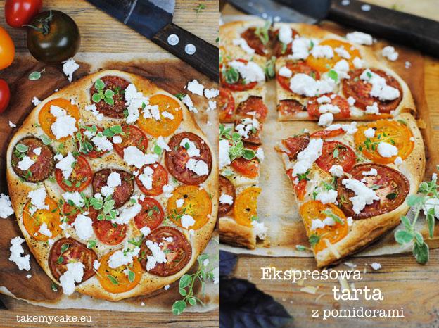 Ekspresowa tarta z pomidorami
