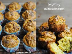 Muffiny cebulowe z makiem