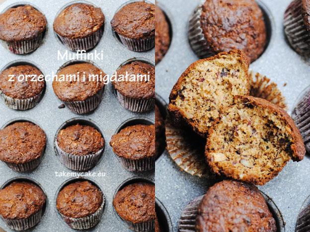 Muffiny z orzechamii migdałami