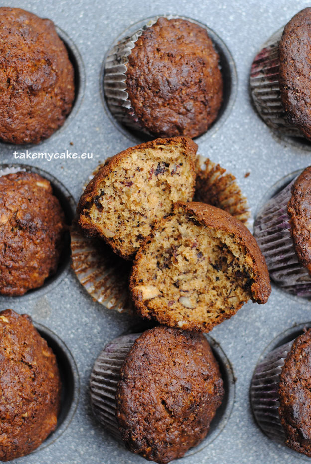 muffinki z orzechami i migdalami