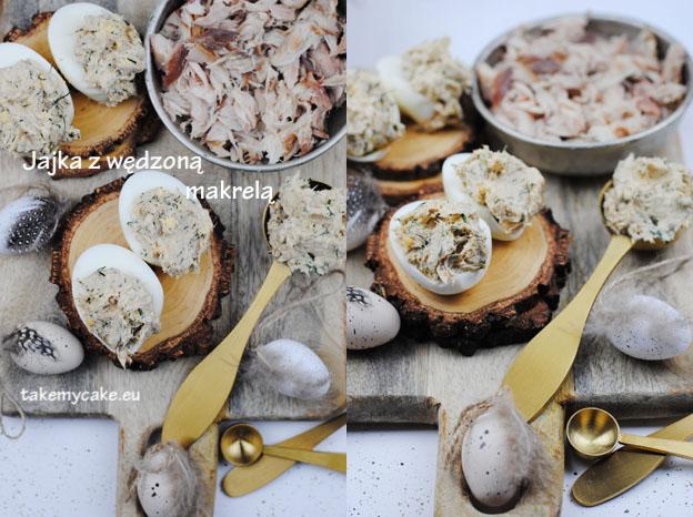 Jajka z wędzoną makrelą