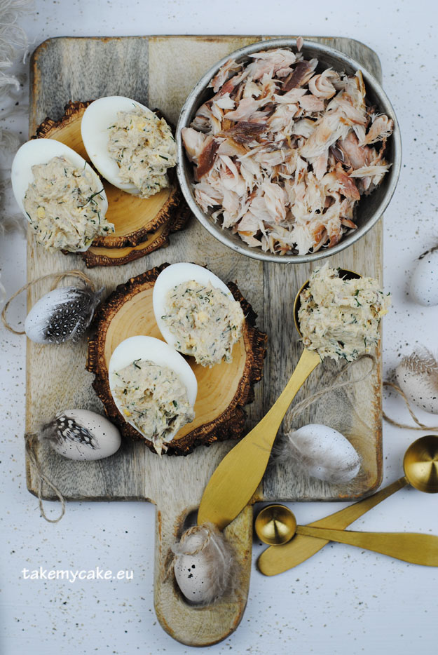 jajka z wedzona makrela